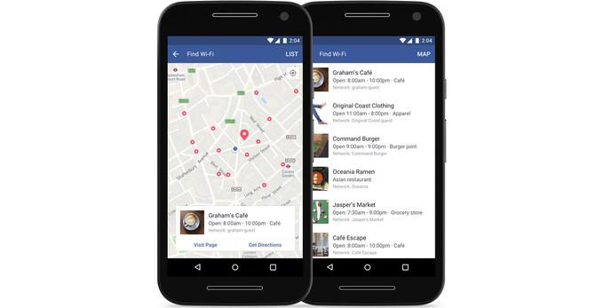 ของเล่นใหม่ Facebook เพิ่มความสามารถ<br> Find Wi-Fi ให้สามารถหาจุดกระจายสัญญาณ <br>Wi-Fi ได้ทั่วโลก