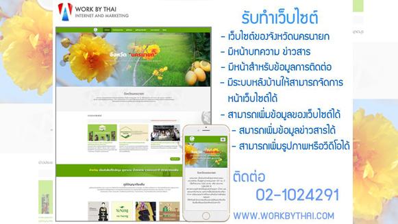 บริษัท workbythai<br> รับทำเว็บไซต์ จังหวัดนครนายก