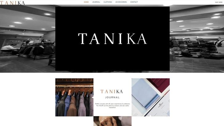 บริษัท WORKBYTHAI ได้จัดทำเว็บไซต์<br>รับตัดชุดสูท TANIKA
